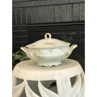 1940s Limoges Haviland Handled and Footed Floral Motif Soup Tureen Preview