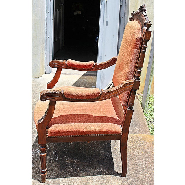 French Louis XVI Style Carved Fauteuil Armchairs- A Pair - Image 8 of 9