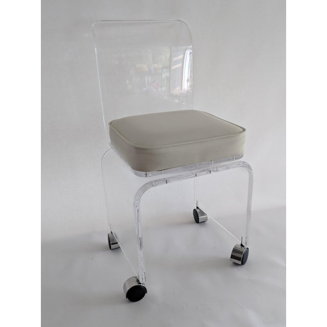 Lucite Vanity Swivel Stool / Chair - Image 8 of 8