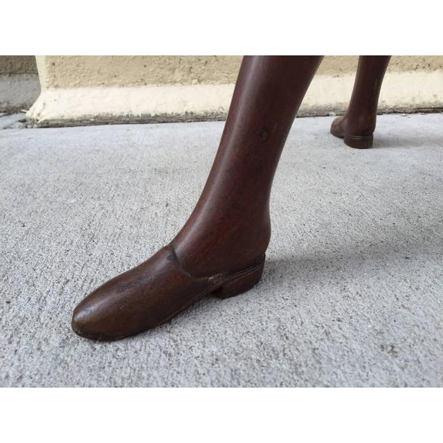 Georgian Mahogany Adjustable Dictionary / Music Stand With Carved Shoe Feet - Image 9 of 9