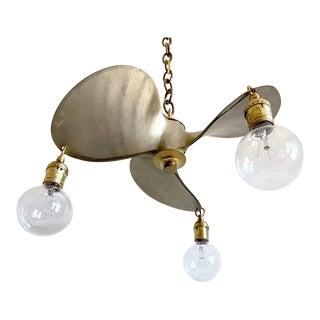 Vintage Brass Propeller Chandelier For Sale
