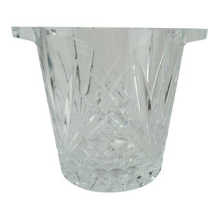 Cut Crystal Ice Bucket W/ Handles For Sale