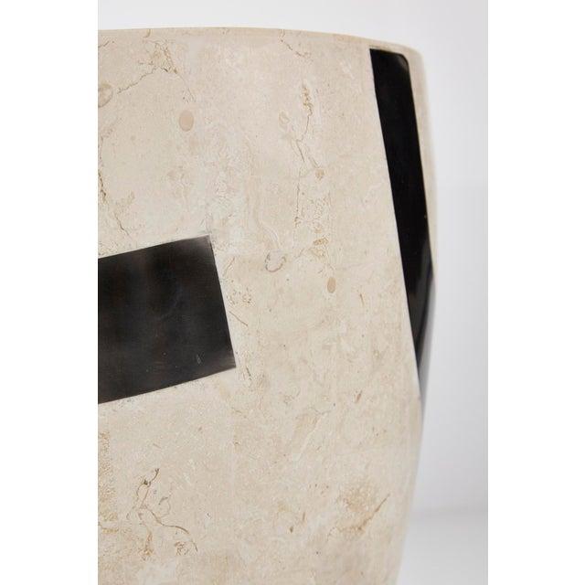"1990s Vintage Medium Postmodern Tessellated Stone ""Et Cetera"" Planter For Sale - Image 9 of 10"