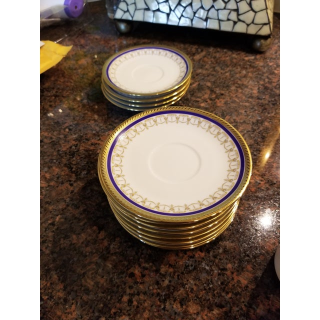 Ceramic Collection of Eleven German Porcelain Demitasse Cups and Saucers For Sale - Image 7 of 9