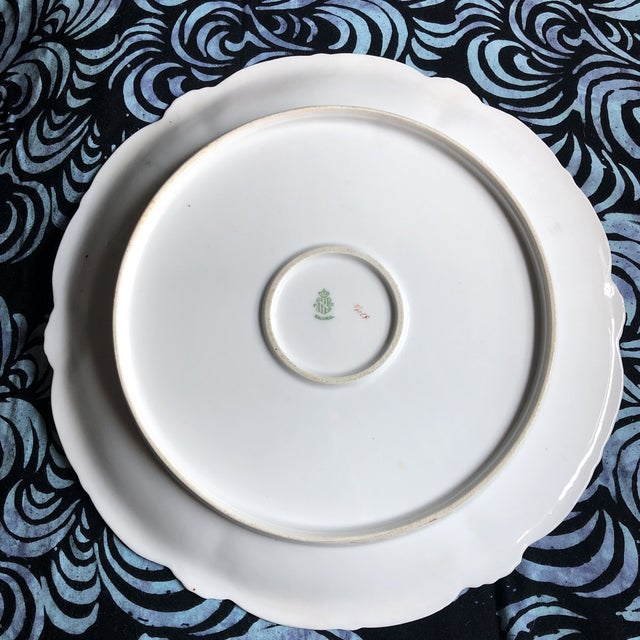 Vintage Hand Painted and Signed Vintage Bavarian Charger Plate For Sale - Image 9 of 13