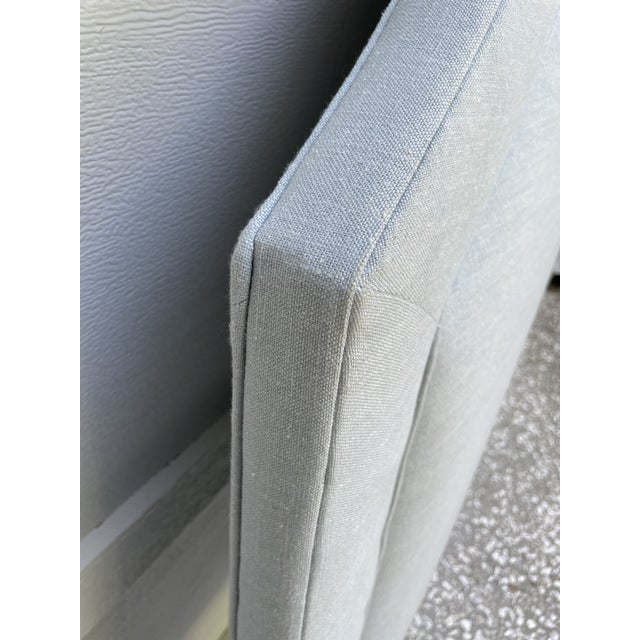 Modern Full/Double Custom Upholstered Headboard For Sale - Image 3 of 5
