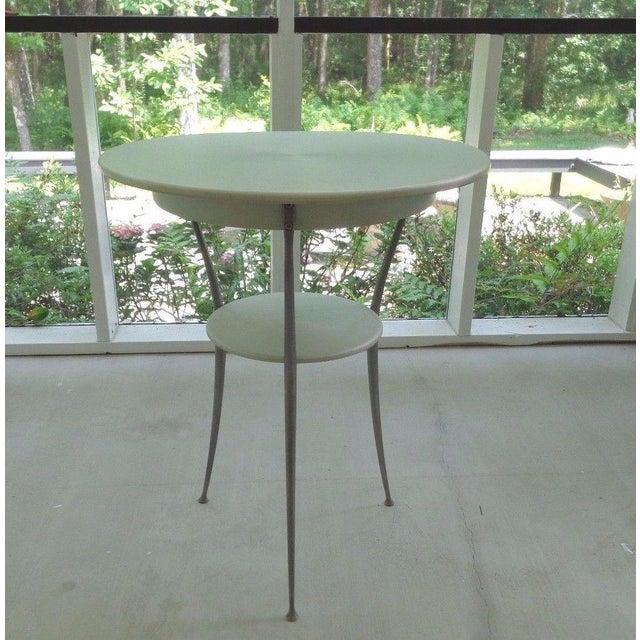 Mid Century Italian Arper Aluminum Table - Image 2 of 10
