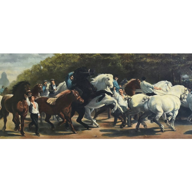 Circa 1928 Marché Aux Chevaux/Bonhuer by G. Robie Oil Painting For Sale - Image 4 of 12