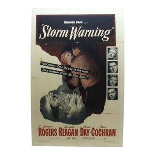 "Vintage ""Storm Warning"" Ginger Rogers & Ronald Reagan Mounted Movie Poster For Sale"