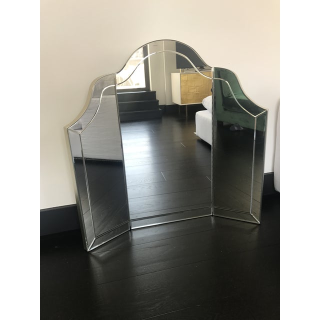 A Gorgeous Harlow Three Part Vanity Mirror By Nancy Corzine This Piece Is In Mint