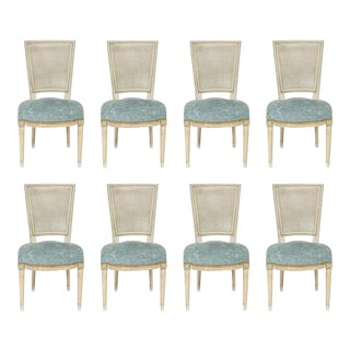 Louis XVI Style Caned Back Dining Chairs - Set of 8