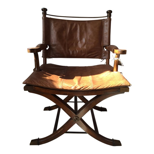 Safari Leather Side Chair - Image 1 of 4