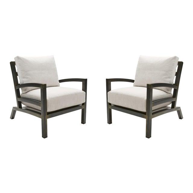 Gil Melott Bespoke Tx6315 Handmade Custom Steel Urban Lounge Chair for Studio 6f For Sale