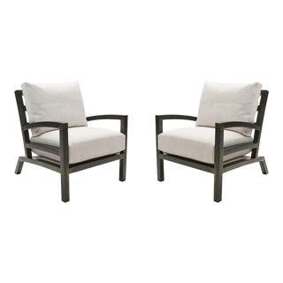 Pair - Grm Bespoke, Handmade Custom Steel Urban Lounge Chair for Studio 6f For Sale