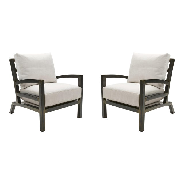 Pair of Grm Bespoke, Handmade Custom Steel Urban Lounge Chair for Studio 6f For Sale