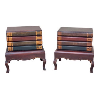 1960's Vintage Book Tables in the Manor of Maitland-Smith - A Pair For Sale