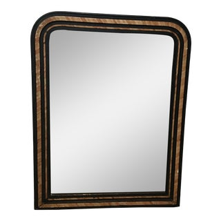 French Faux Painted Mirror With Original Glass For Sale