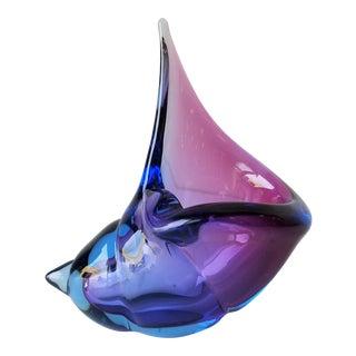 Alfredo Barbini Italian Murano Glass Seashell Ashtray For Sale