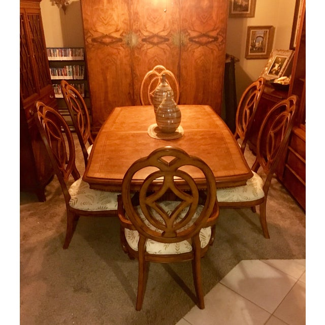 Traditional Thomasville Villa Soleil Dining Set For Sale - Image 3 of 7