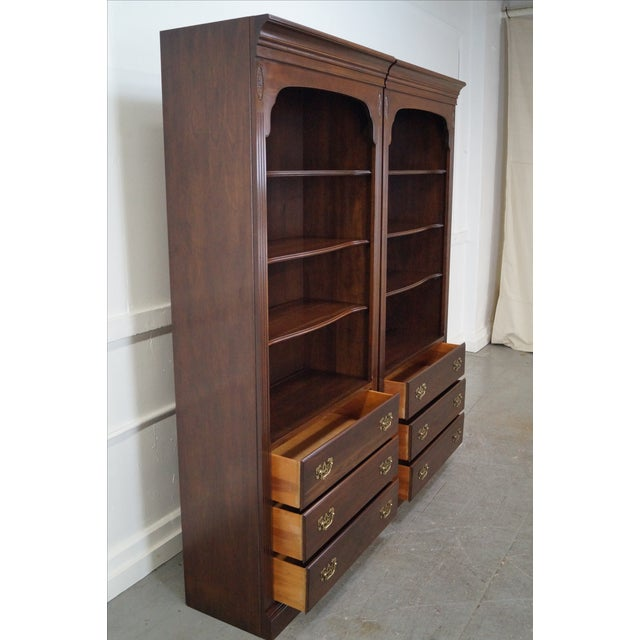 Ethan Allen Georgian Court Cherry Bookcases - Pair For Sale In Philadelphia - Image 6 of 10