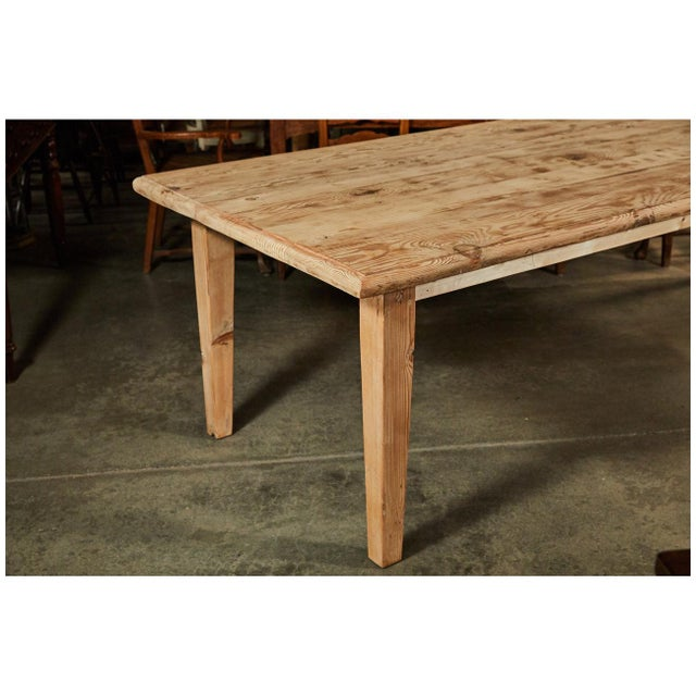 Large Pine Rustic Dining Table For Sale - Image 4 of 5