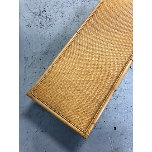 Mid Century Modern Ficks Reed Bamboo / Rattan Benches For Sale - Image 11 of 13