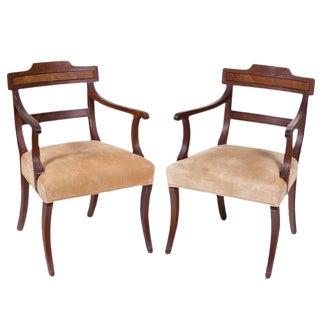 English Regency Arm Chairs - A Pair