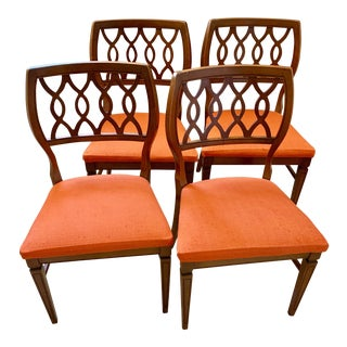 Midcentury Modern Wood Dining Chairs, Set of Four For Sale