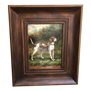 Vintage Hunting Dog Painting