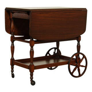 Vintage Mahogany Trolly Bar or Tea Cart For Sale