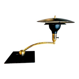 Dazor Black Flying Saucer Sight Light Desk Lamp For Sale