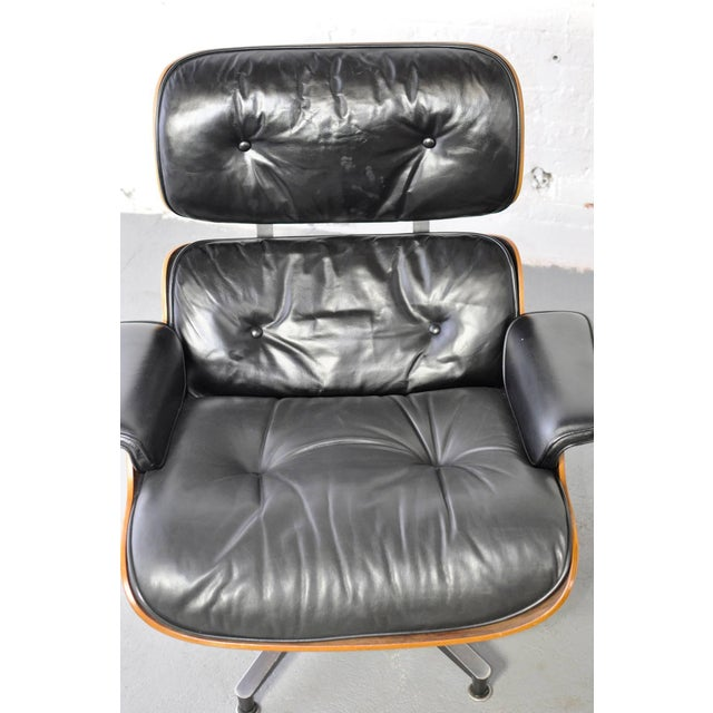 Vintage Rosewood Lounge Chair and Ottoman by Charles Eames - Image 4 of 10