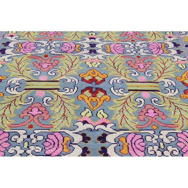 1990s 1990s Vintage Handwoven Area Rug- 6′8″ × 9′7″ For Sale - Image 5 of 11