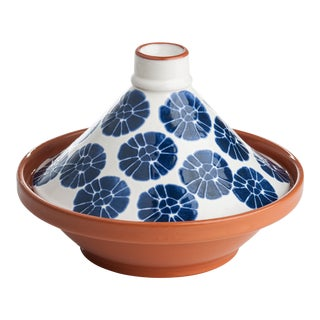 Blue & White Flower Tagine For Sale