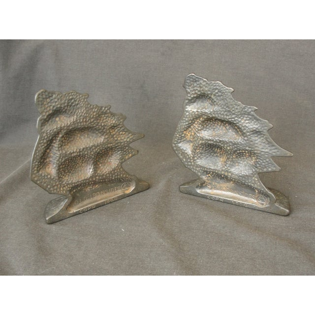 Vintage Cast Iron Ship Bookends - A Pair - Image 5 of 6