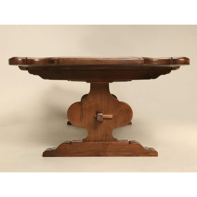 Italian Italian Farm Table Made from Huge Planks of Solid Mahogany For Sale - Image 3 of 10