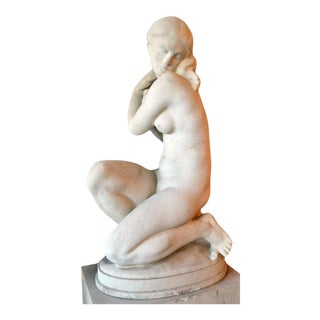 Statue of a Young Woman by Kai Nielsen, Sweden, 1923-1924 For Sale