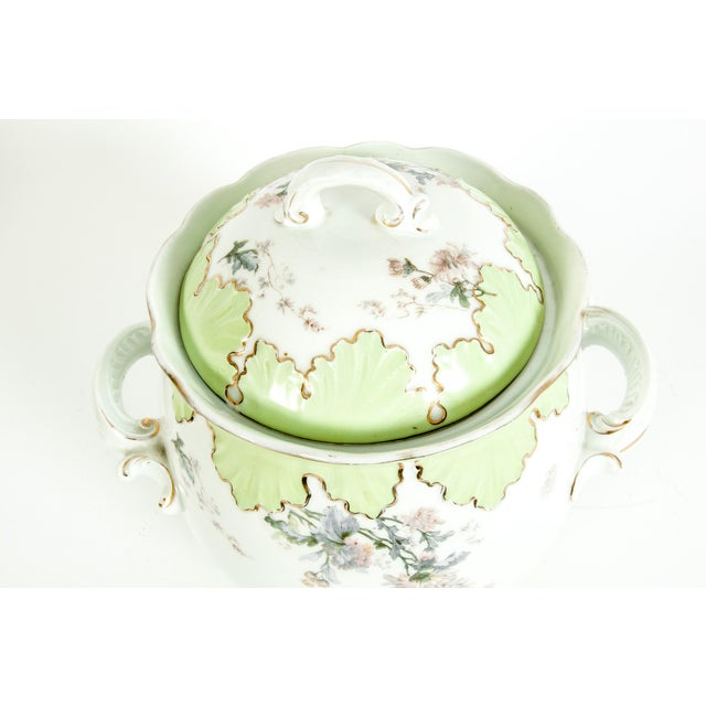 Large Austrian Porcelain Covered Piece For Sale - Image 10 of 12