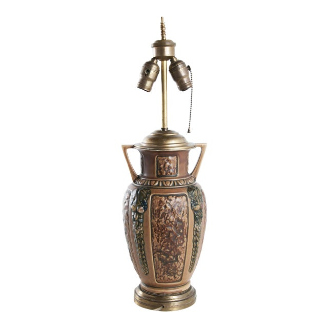 1910s Earthenware Lamp For Sale