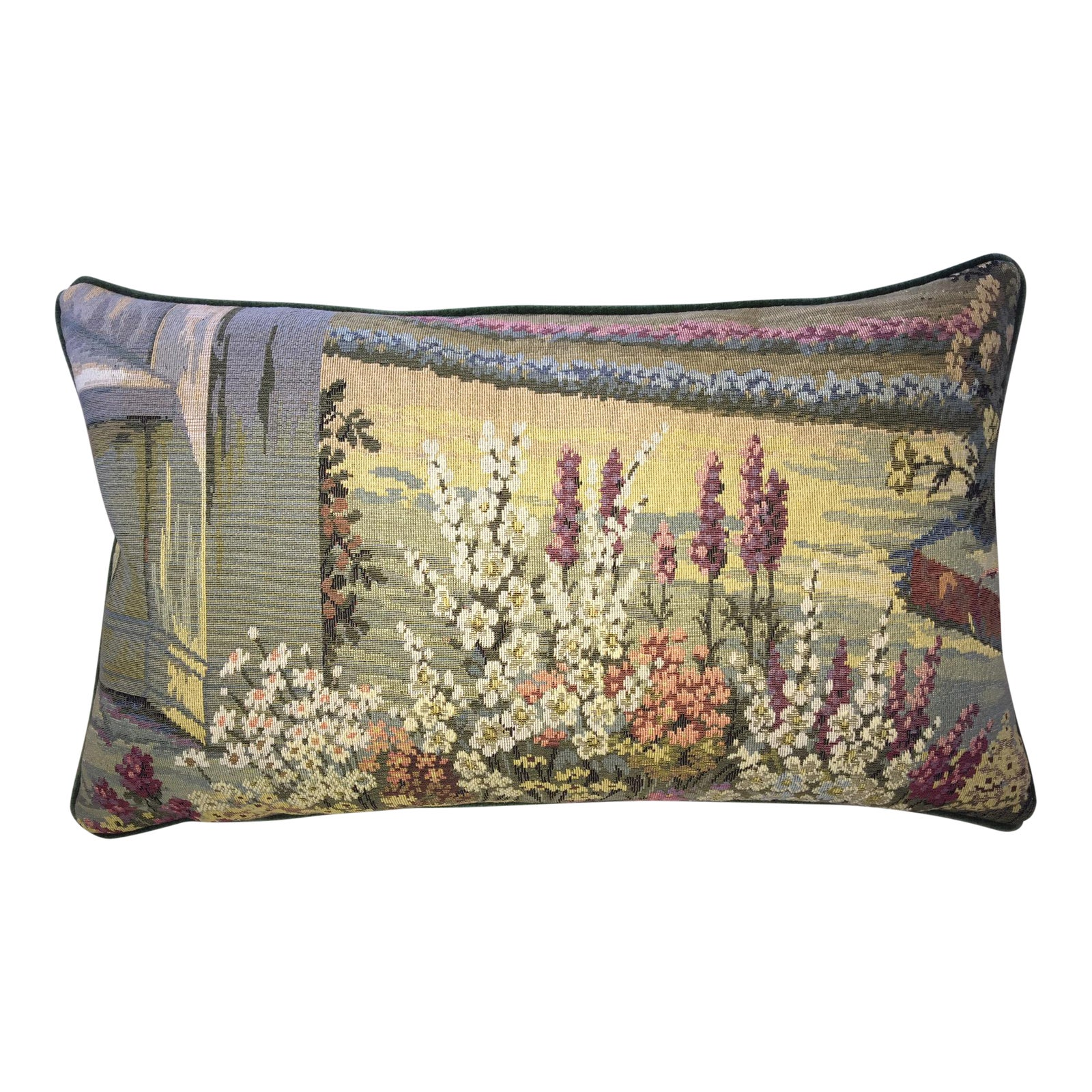 Vintage Italian Tapestry Lumbar Accent Pillow Cover Chairish