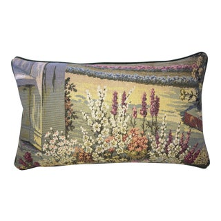 Vintage Italian Tapestry Lumbar Accent Pillow Cover For Sale