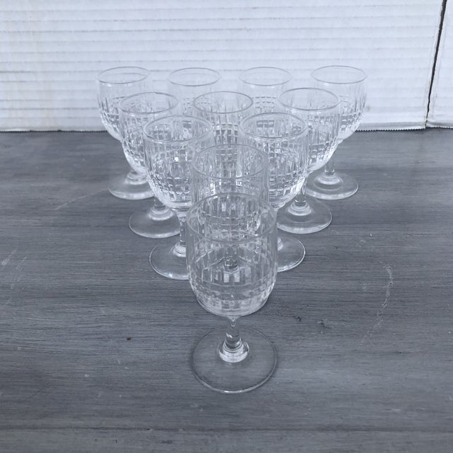 Glass Hand Cut Vintage Holiday Cordial Glasses a Set of 11 For Sale - Image 7 of 7