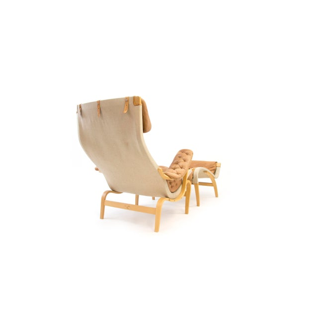Bruno Mathsson Dux of Sweden Pernilla Chair & Ottoman f For Sale In Phoenix - Image 6 of 10