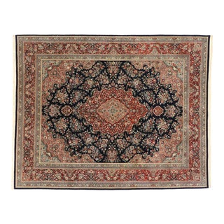 Vintage Chinese Floral Rug With Traditional Persian Style - 08'01 X 10'02 For Sale