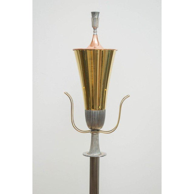 Tommi Parzinger Polished Floor Lamp - Image 3 of 7