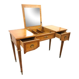 Henredon Vanity Dressing Table Desk with Hidden Mirror