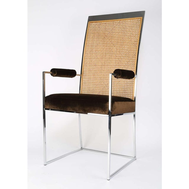 Milo Baughman for Thayer Coggin Six High Back Cane Dining Chairs by Milo Baughman for Thayer Coggin For Sale - Image 4 of 11