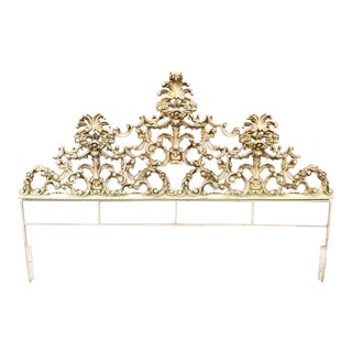 Italian King Baroque Rococo Iron Headboard For Sale