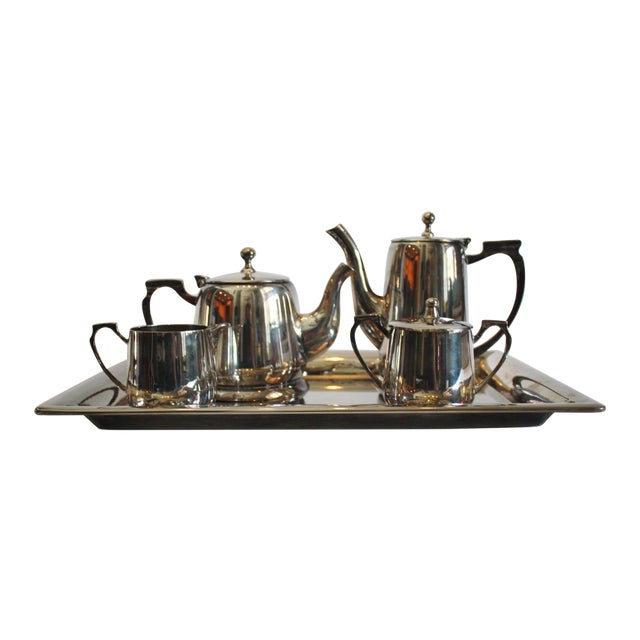 6 Piece Silver Tea & Coffee Service For Sale