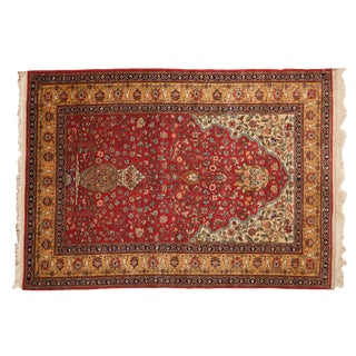 "Vintage Romanian Hereke Design Rug - 4'10"" X 7'6"" For Sale"